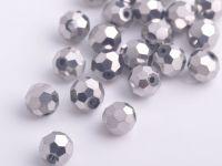 Perles cristal argent 6mm  50pcs