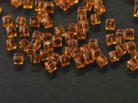 Cubes en crystal light smoked topaz 3 mm X 100