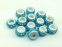 Perles Lampwork , perles de Murano et argent 925 silver 10mm et trou 5mm.... x 10 perles