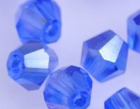 Toupies en crystal 4 mm Sapphire AB X 200