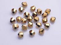 Toupies en crystal 3 mm Or X 150
