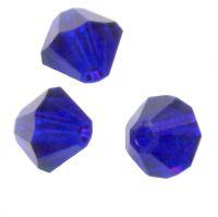 Toupies en crystal 3 mm Cobalt X 200