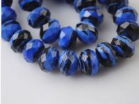 Perles Lampwork , perles de Murano et argent  8 mm et trou 1.2 mm x 10