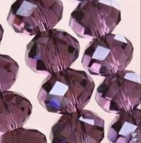 Perles crystal  3 X 4 mm Fuschia X 100