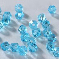 Toupies en crystal 3 mm Aquamarine X 100