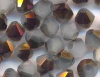 Toupies en crystal 4 mm WHITE OPAL SKYE BLUE X 100