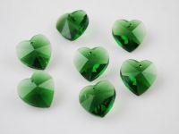 Coeur en crystal 14 mm Emerald X 10
