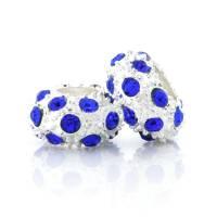 Perles Grand Trou Doré Argenté  12x12x6.5mm trou = 5 mm X 5