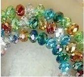 Perles crystal 3 x 4 x 100