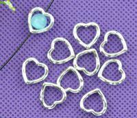 Cadres de Perles Cœur Embellissement 14mm ( trou pour passage de fil ) X 5