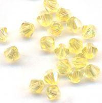 Toupies 4 mm crystal de boheme jonquil AB X 100