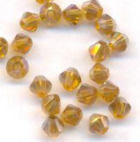 Toupies 4 mm crystal de boheme tangerine AB X 100