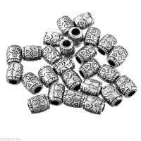 Perles  Acrylique Ovale Motif  9x8mm X 5