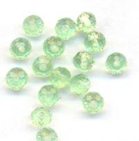 Rondelles briolettes 4 mm Chrysolite X 100