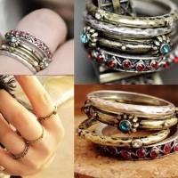 4 anneaux pou création bracelet