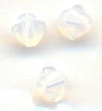 Toupies en crystal 4mm  White opal X 100
