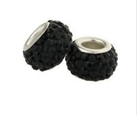 Perles Lampwork , perles de Murano et argent  14 x 9 et trou 4.5 mm . 925 silver x 10