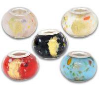 Mixte Perles Lampwork , perles de Murano et argent  14 x 8  x 5