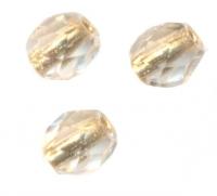 PERLES FACETTES DE BOHEME  4mm  CRYSTAL GOLD LINED AB X 100