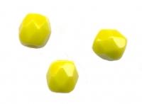 PERLES FACETTES DE BOHEME  4mm  OLIVINE OPAQUE X 100