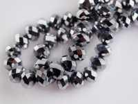 Perles cristal argent 3 X 4mm x 100