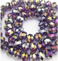 Perles cristal Purple 3 X 4mm x 150