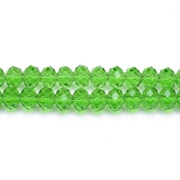Perles crystal 3 x 4 mm Green  X 100