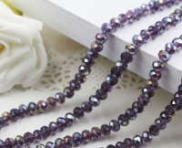 Perles cristal 10x12mm violet multicolor X 20