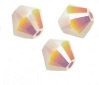 TOUPIES SWAROVSKI® ELEMENTS 4 mm WHITE ALABASTER AB2X/ 50 perles
