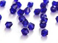 Toupies en cristal 3 mm Cobalt X 100