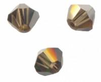 TOUPIES SWAROVSKI® ELEMENTS  4mm SMOKY QUARTZ satin 50 perles