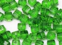 Cubes en crystal green 4 mm X 25