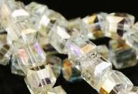 Cubes en crystal citrine 6 mm X 30