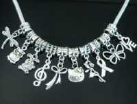 mixte breloques en argent tibétain spécial collier/bracelets x 10