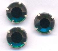 Chatons 8 mm emerald sertis