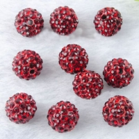 Boules rondes strass disco sapphire 10 mm X 10