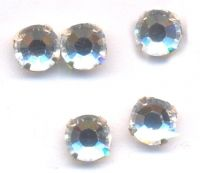 Chatons crystal 5 mm sertis