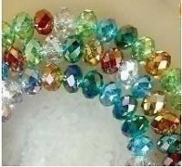 Perles , Multicolor Cristal 6x4mm X 200