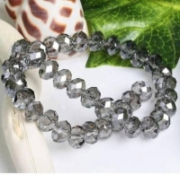 Perles  cristal 8x6mm  gris X 70