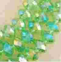Perles  Cristal vertes  6x8mm, X 70