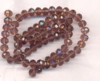 Perles cristal 6x8mm , morion