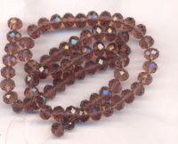 Perles cristal 6x8mm , morion X 70