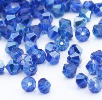 Toupies en cristal 4 mm sapphire CAL X 100