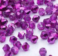 Toupies en crystal 4 mm fuschia CAL X 100