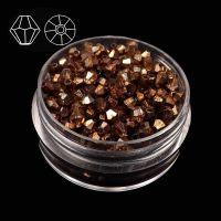 Toupies en cristal 4 mm morion CAL X 100