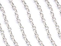Chainette maille argent ep: 4 X 3.5 mm 1 metre