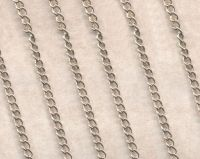 Chainette maille argent ep: 3.5 x 3.1 mm