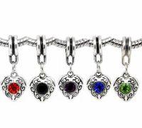 Mixte Pendentifs Coeur Strass  pour Bracelet  X 10