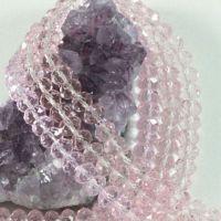 Perles crystal 3 x 4 mm Light rose AB X 150