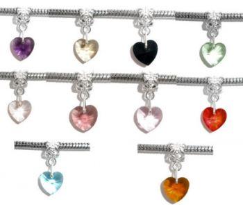 Mixte Bijoux Pendants Breloque Coeur pour Bracelet  24x10mm x 5